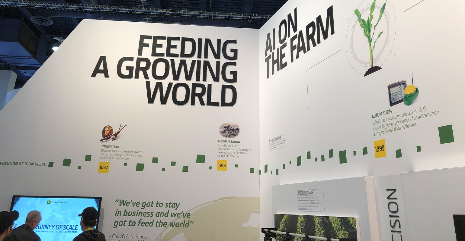 John Deere display at CES shares the story of technology in sustainable agriculture