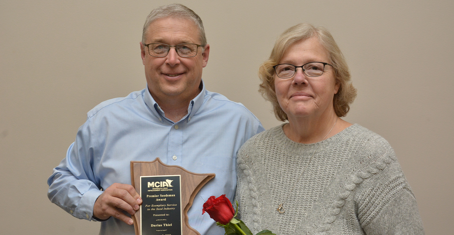 Darius Thiel and wife Terri receivied award from MCIA