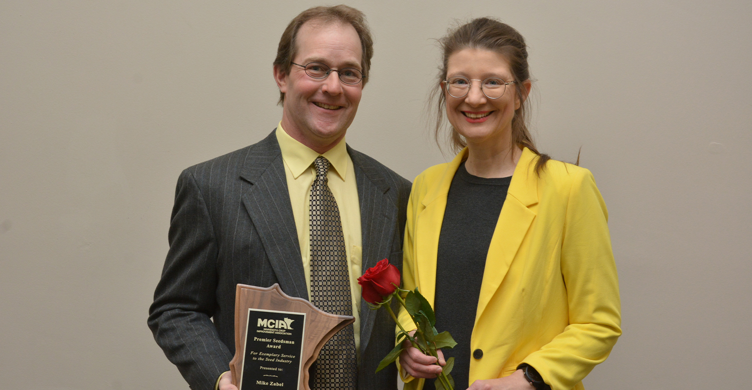 Mike Zabel and wife Kim received award from MCIA