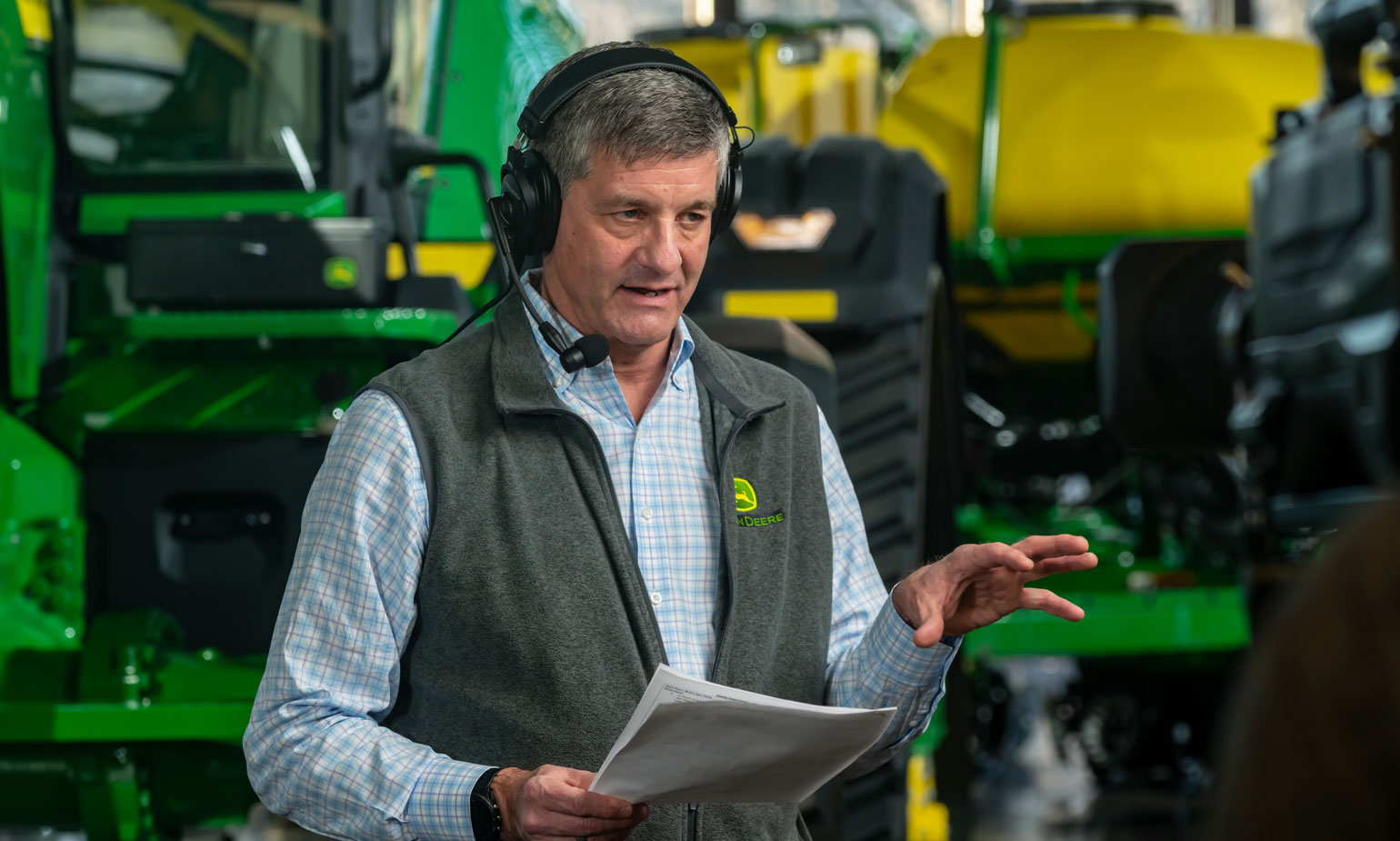 Lane Arthur, vice president, data, applications and analytics, John Deere, talked with Farm Progress