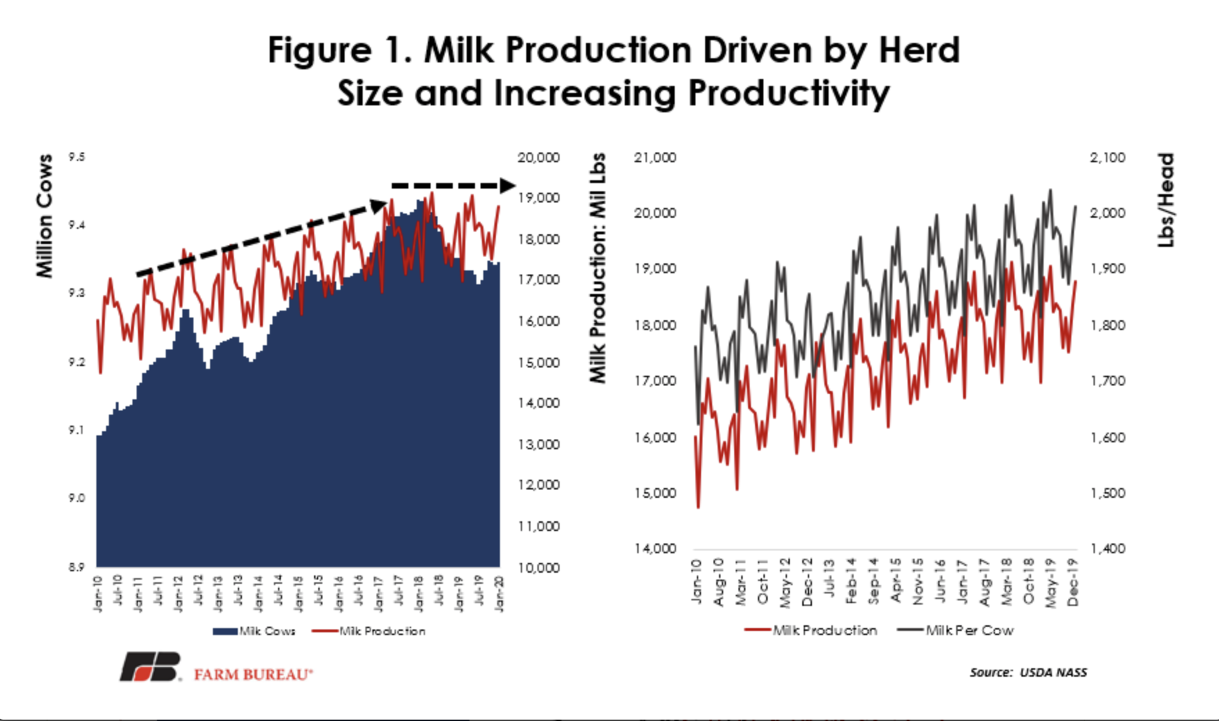 Milk Production Driven By Herd Size And Increasing Productivity
