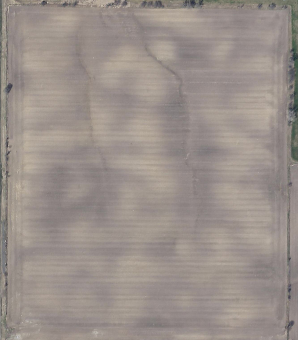 thermal-based image of bare fields