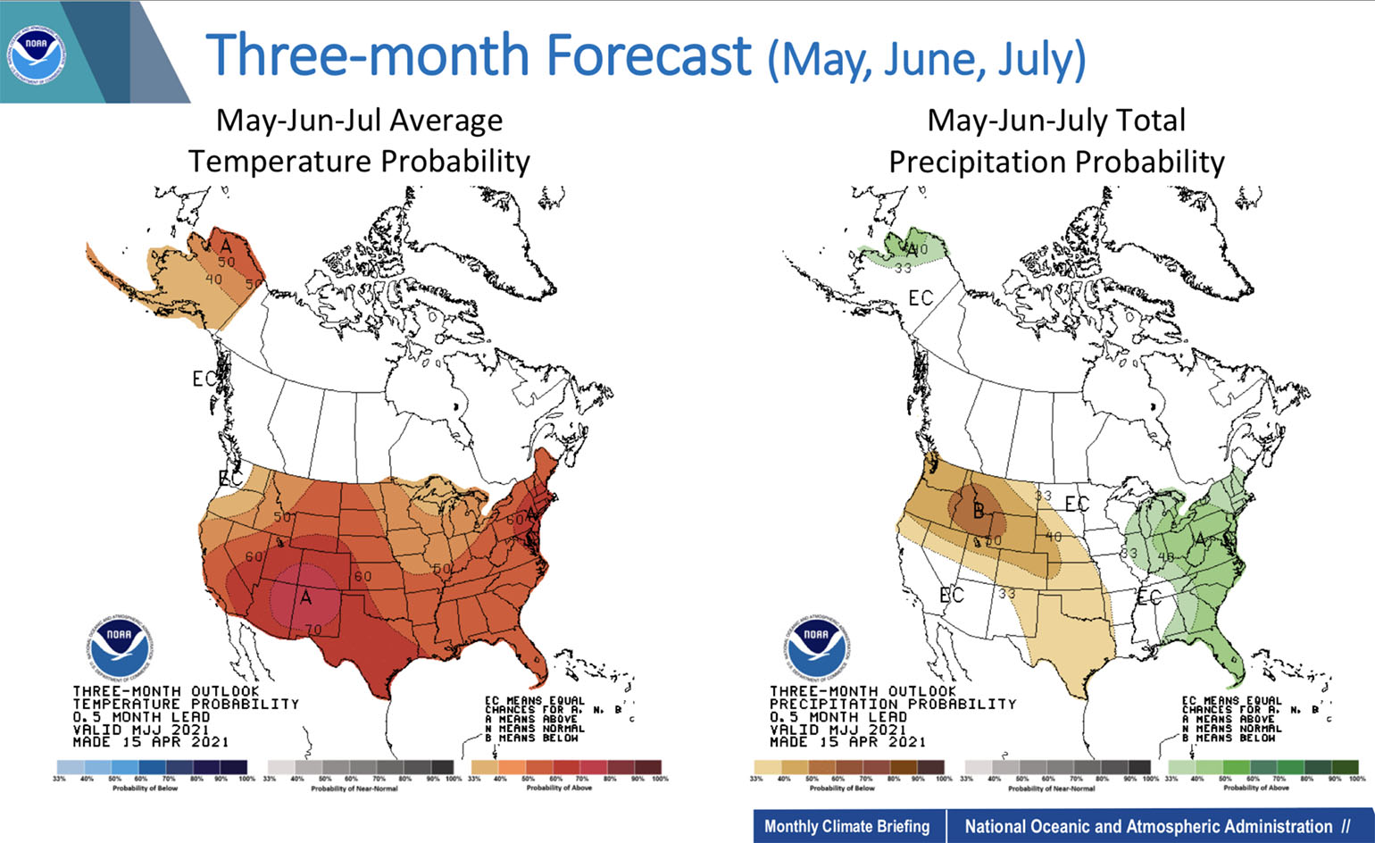 Three Month Forecast Outlook