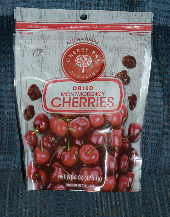 Bag of dried cherries