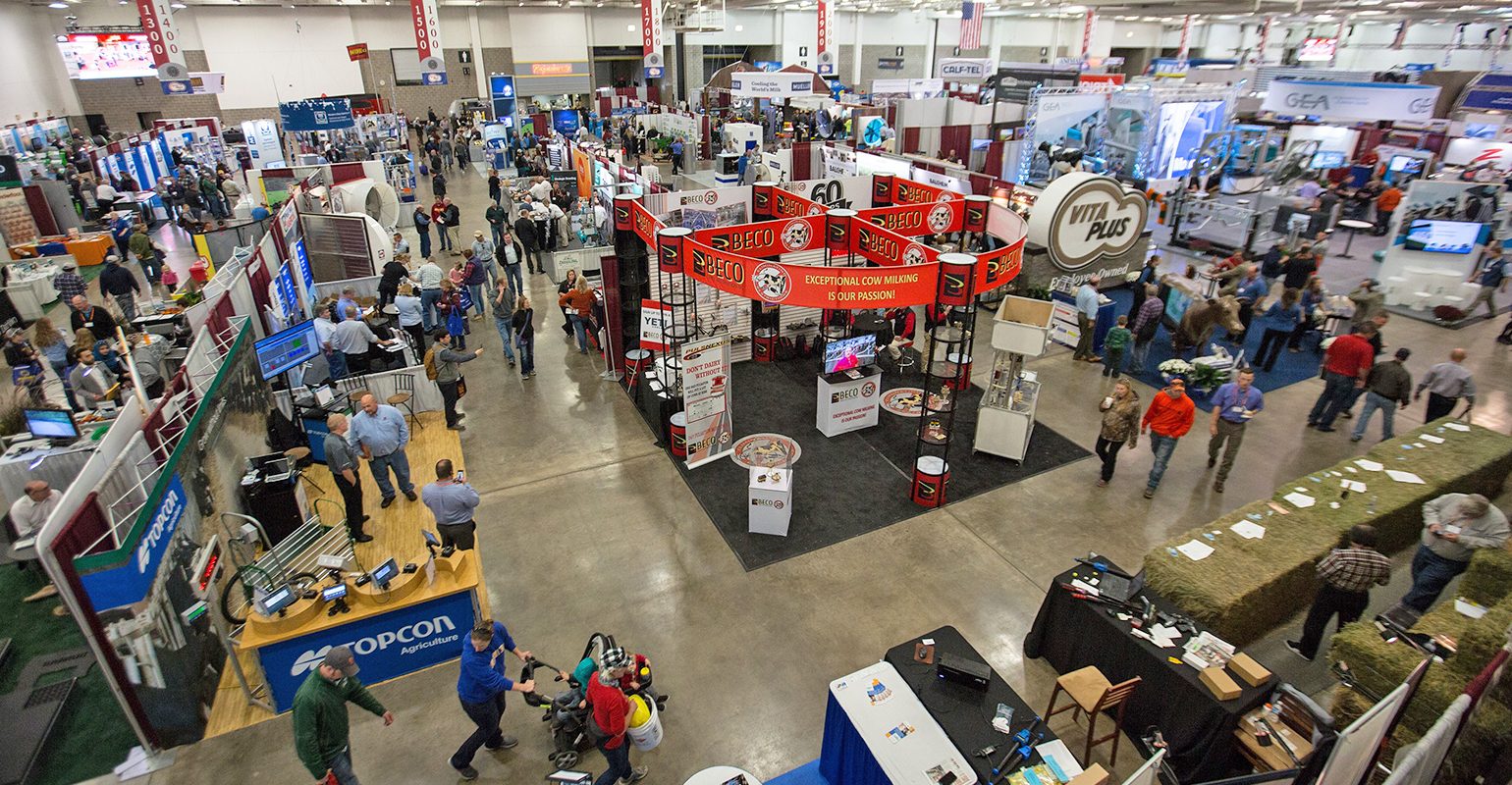 elevated view of the exhibit floor at World Dairy Expo
