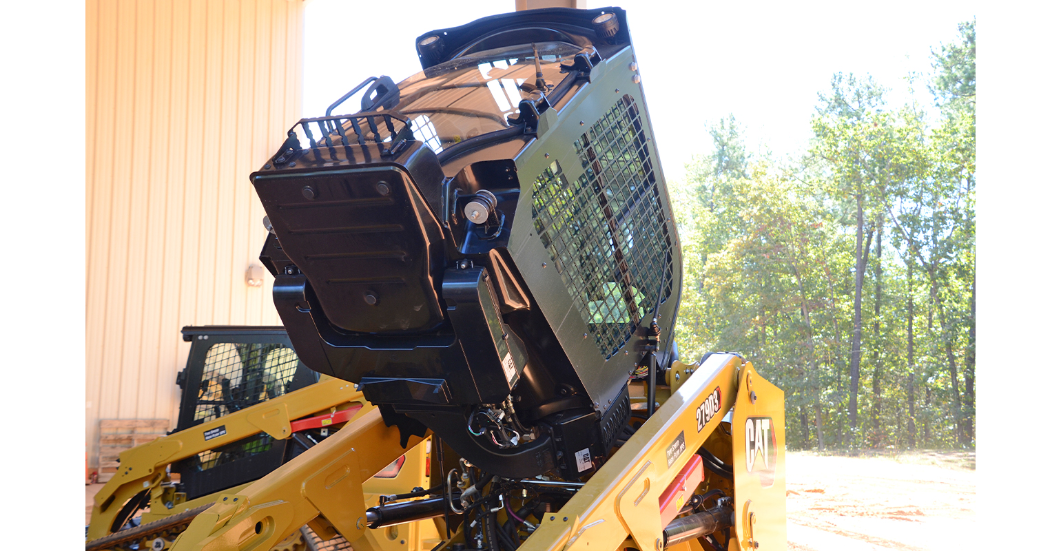 new one-piece cab for the D3 Series skid-steer and compact track loader from Caterpillar.jpg