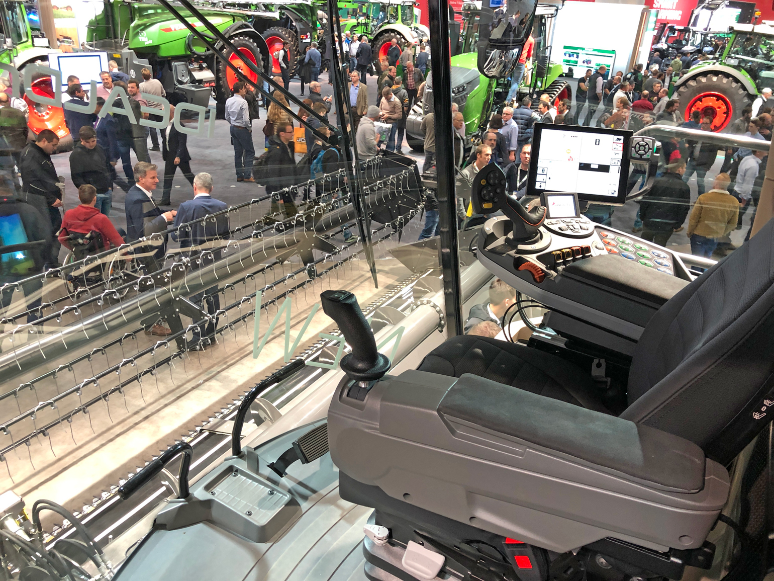 interior of IdealDrive cab from Fendt displayed at Agritechnica