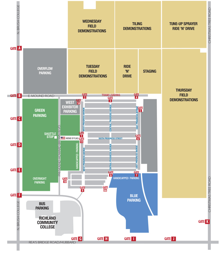 farm progress show field demo map