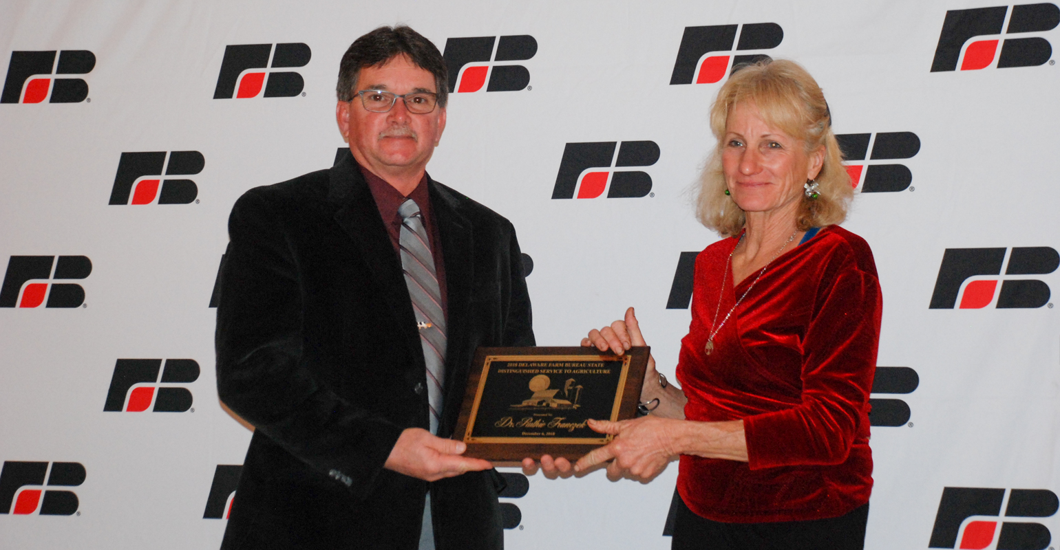 Ruthie Franczek was presented the Distinguished Service to Agriculture Award by Delaware Farm Bureau