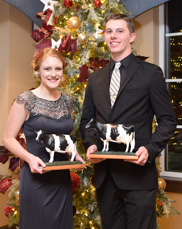 Allison Breunig and Zach Tolzman selected Outstanding Holstein Girl and Boy
