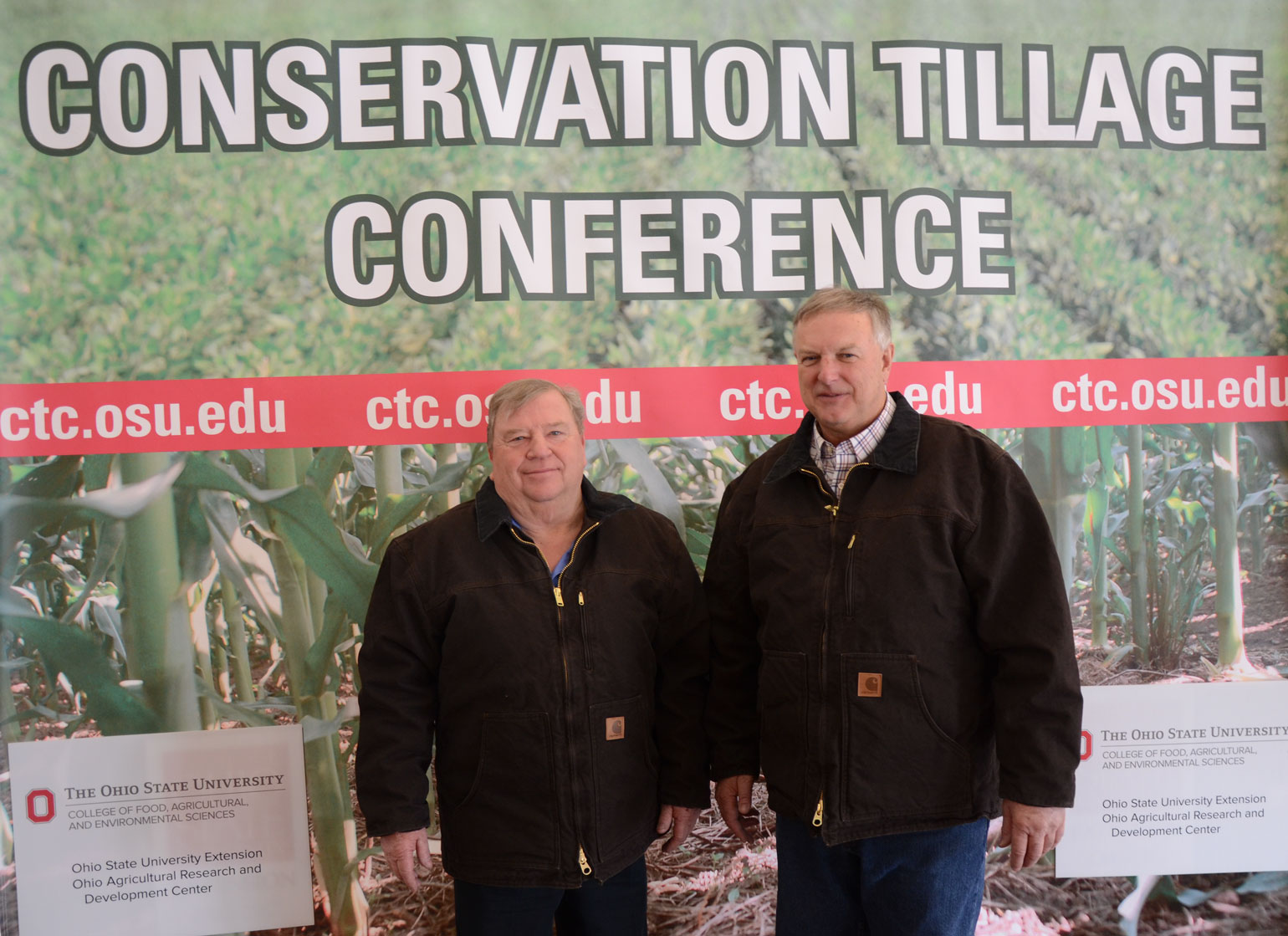 Master Farmers John Motter and Allen Dean at Ohio Conservation Tillage and Technology Conference