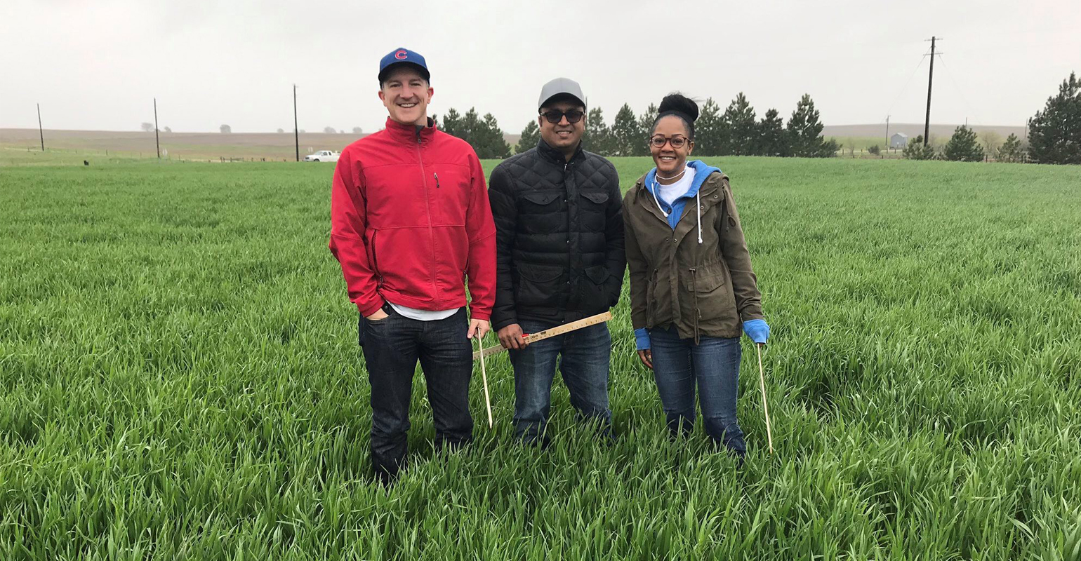 Part of the value to Wheat Quality Tour participants is the opportunity to get to know more about the industry and the people who work in it. These participants are Josh Reasoner, Fahad Vaipel and Jasmon Montgomery