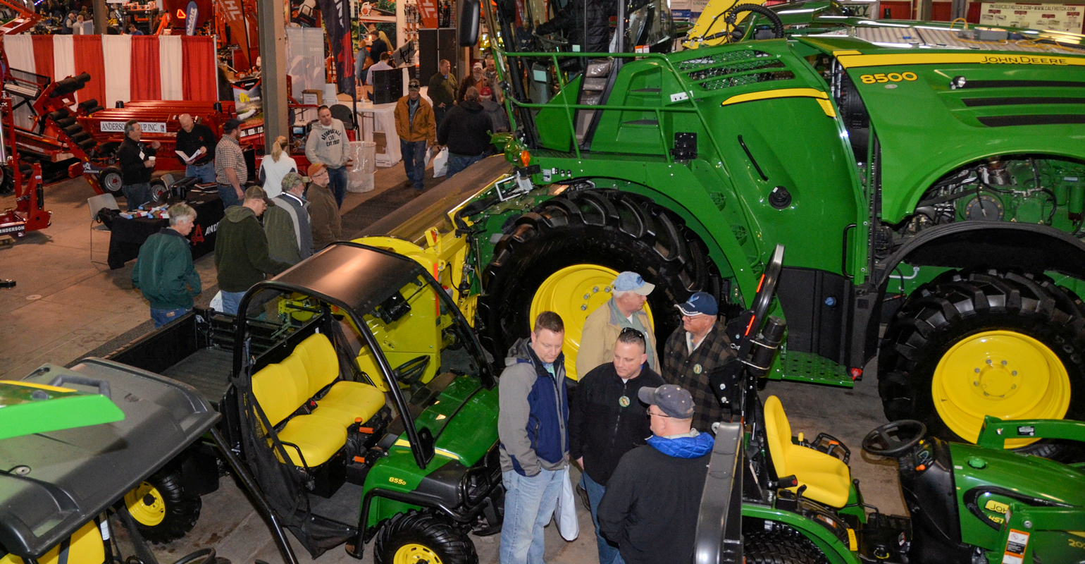 Indoor view from above of The New York Farm Show