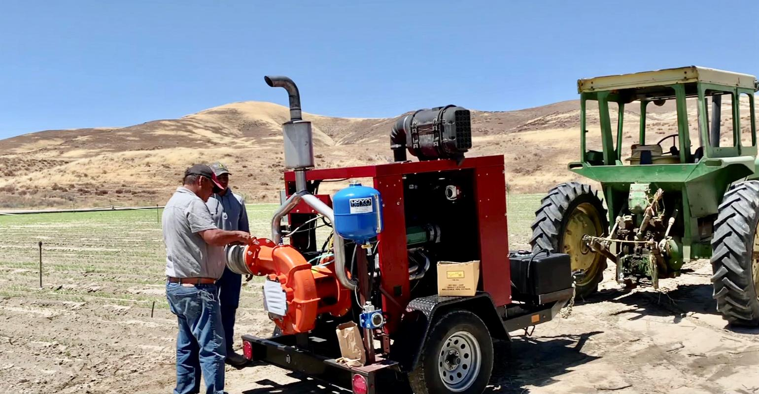 generator and pump to run an irrigation system running on 100% ethanol