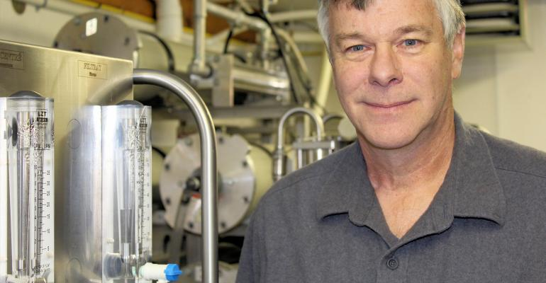 Sugar-maker Rick Mayotte with HyperBrix RO system