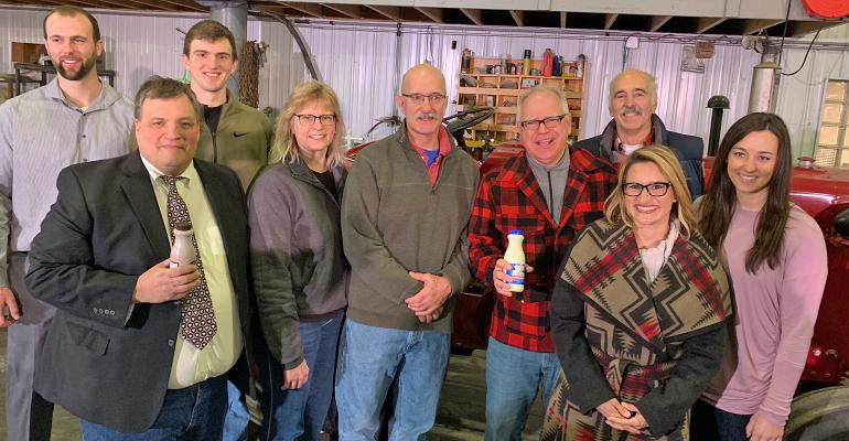 incoming Minn. ag commissioners in the Sorg farm shop