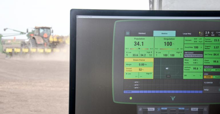 monitor in tractor cab