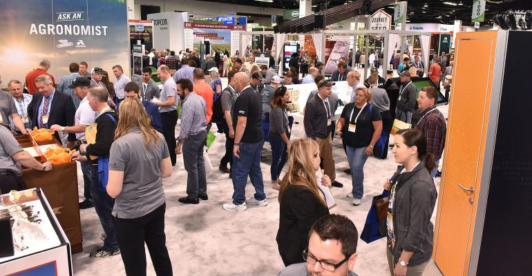 Commodity Classic trade show floor