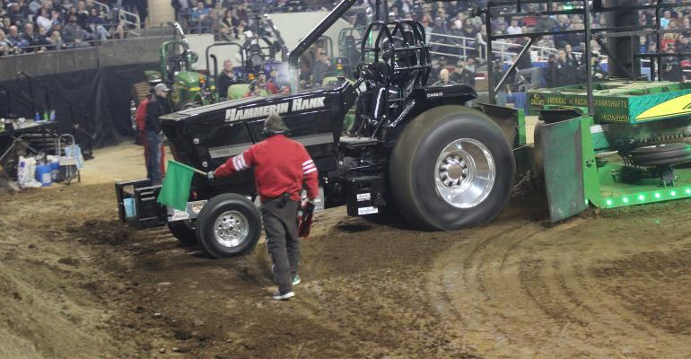 Stan Warda of Berrien Springs took the trophy in the 9,300-pound Super Farm tractor division