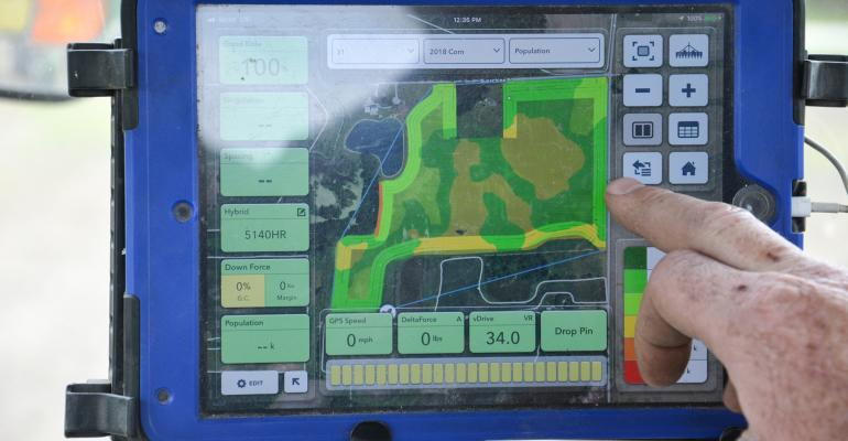 harvest data touch screen