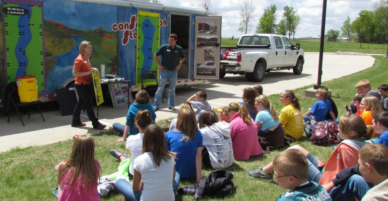 Water Rocks! is part of the Iowa Learning Farms program, an educational effort of Iowa State University Extension. Staff members visit schools across the state teaching youth about conservation.
