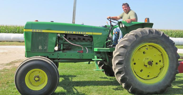 Chris Kestell and John Deere 2840 tractor