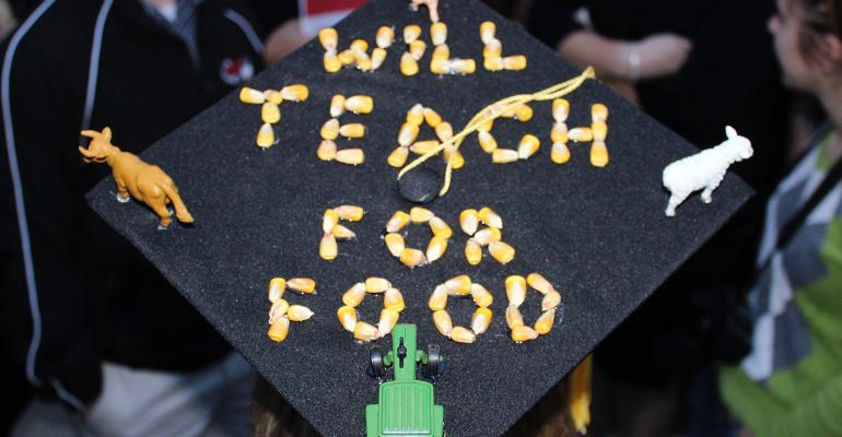 Will Teach for Food graduation cap
