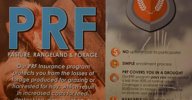 poster for pasture, rangeland and forage  insurance.