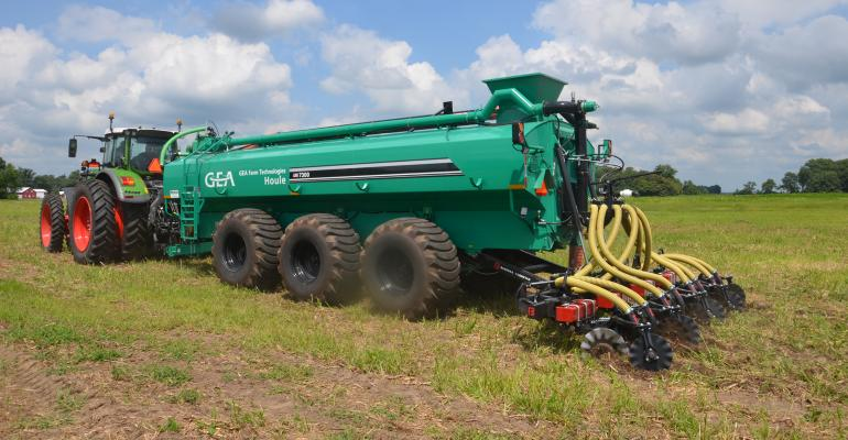 manure application to field