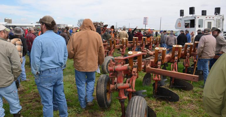 moldboard plows up for auction