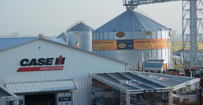grain bins at Farm Progress Show site in Decatur, IL