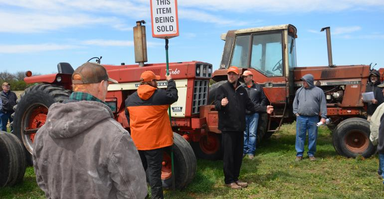 1973 International 1466 tractor at an auction