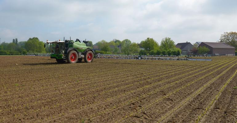 Fendt Rogator sprayer with new technology designed to allow for targeted spraying of weeds