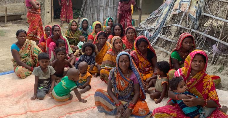 A Mother's group located in Dhangarha Village, Nepal, received kitchen garden training as a group