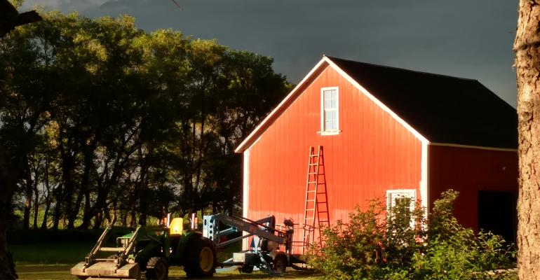 remodel granary painted red