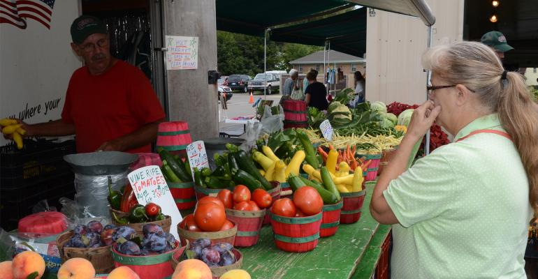 People at a farmer's market