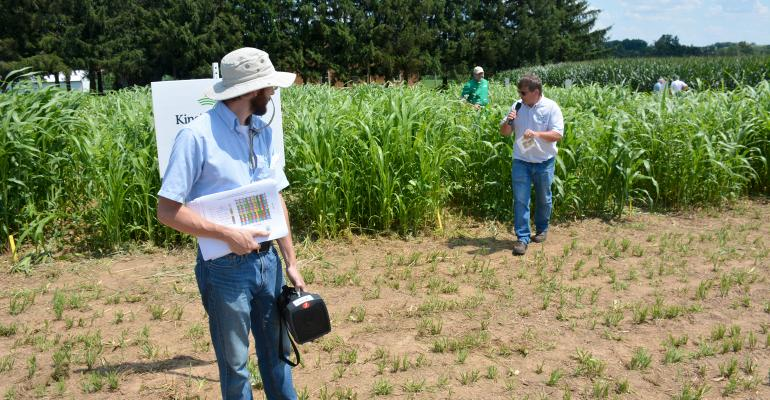 Tim Fritz, owner of King's Agriseeds, and his son, Taylor, talk about cover crop seed mixes planted at Hershey Farms