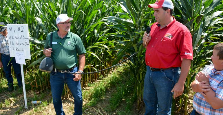 Jim Hershey and Jonathan Martin talk about different ways of inter-seeding cover crops in standing corn and soybeans