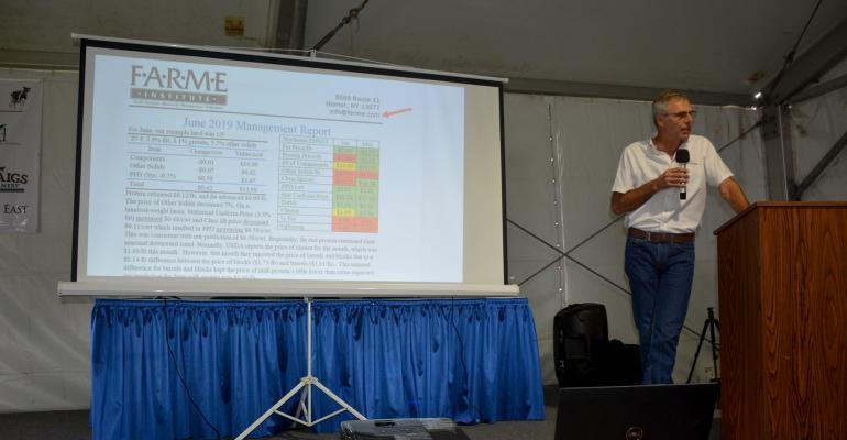 Larry Jones, vice president of FARME Institute, gives a presentation