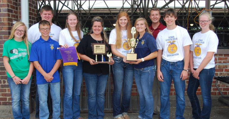Officers and other members of AgriPower FFA Chapter