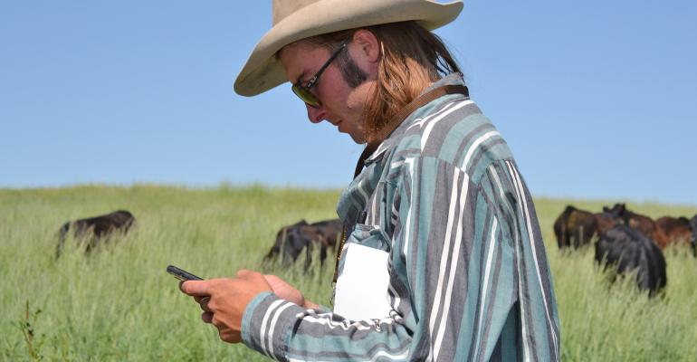Kellen Smith at grazing workshop in Wyoming
