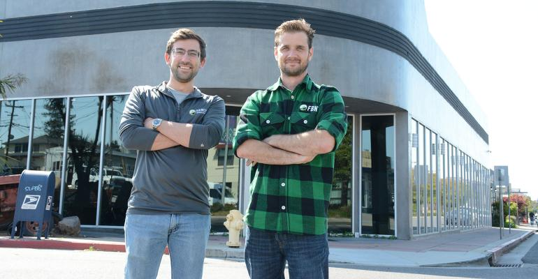 FBN co-founder Charles Baron, with head of data science Matt Meisner at the company's Silicon Valley headquarters.