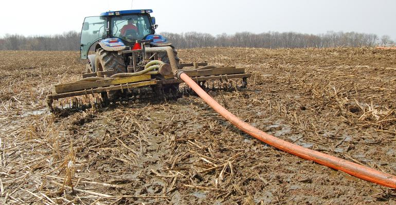 manure application in field