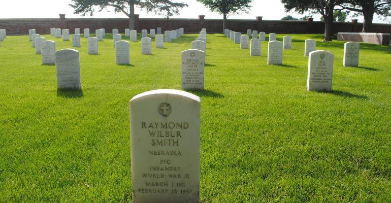 Headstones at Fort McPherson National Cemetery