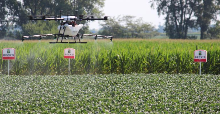 drone sprayer demonstration