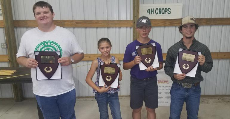 Winners in the 4-H Wheat Variety plot