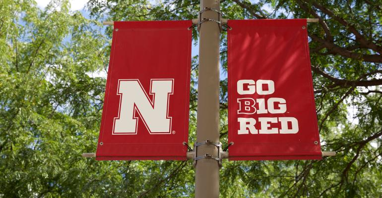 U of N banner and go big red banner