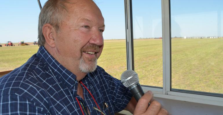Deryl Hilligas makes field demonstrations at Husker Harvest Days fun for all ages