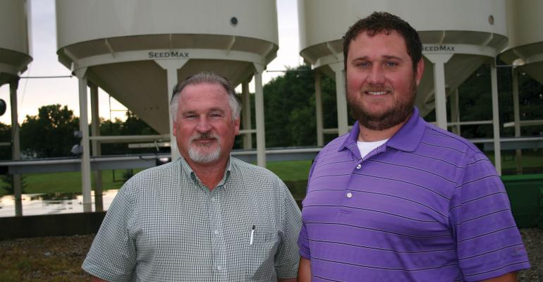 Fred Yoder (left) and his son, Josh