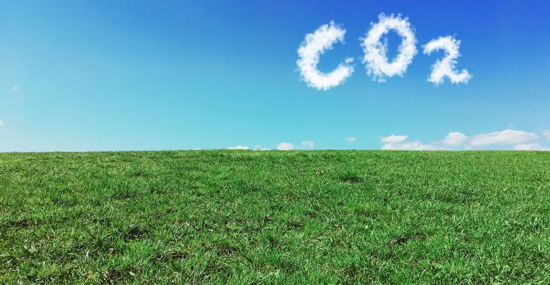 CO2 cloud formation above field